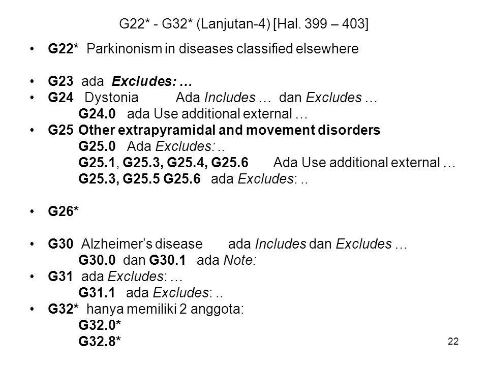 G22* - G32* (Lanjutan-4) [Hal. 399 – 403]